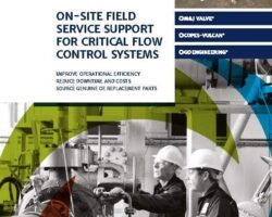 On-site field service support for critical flow control systems
