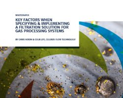 Key Factors When Specifying & Implementing A Filtration Solution For Gas Processing Systems