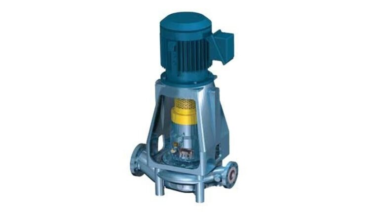CUP-OH3 - Single stage, API, vertical in-Line pump